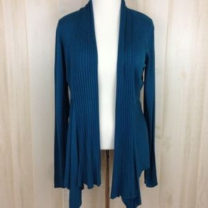 Attitudes by Renee Drape Front Cardigan Teal -  M